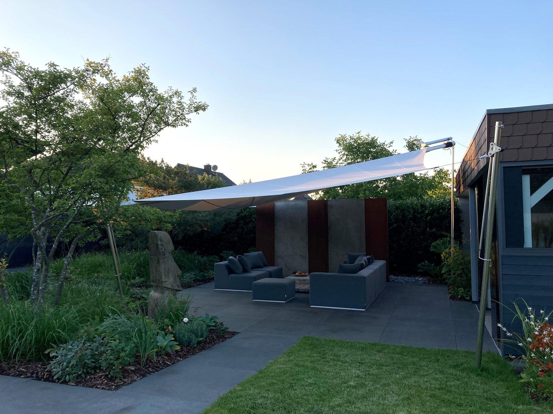 SunSquare vollautomatische Sonnensegel