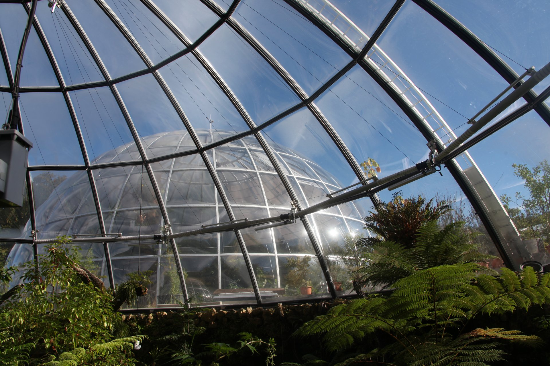 SunSquare indoor sunsails for botanical garden Zurich