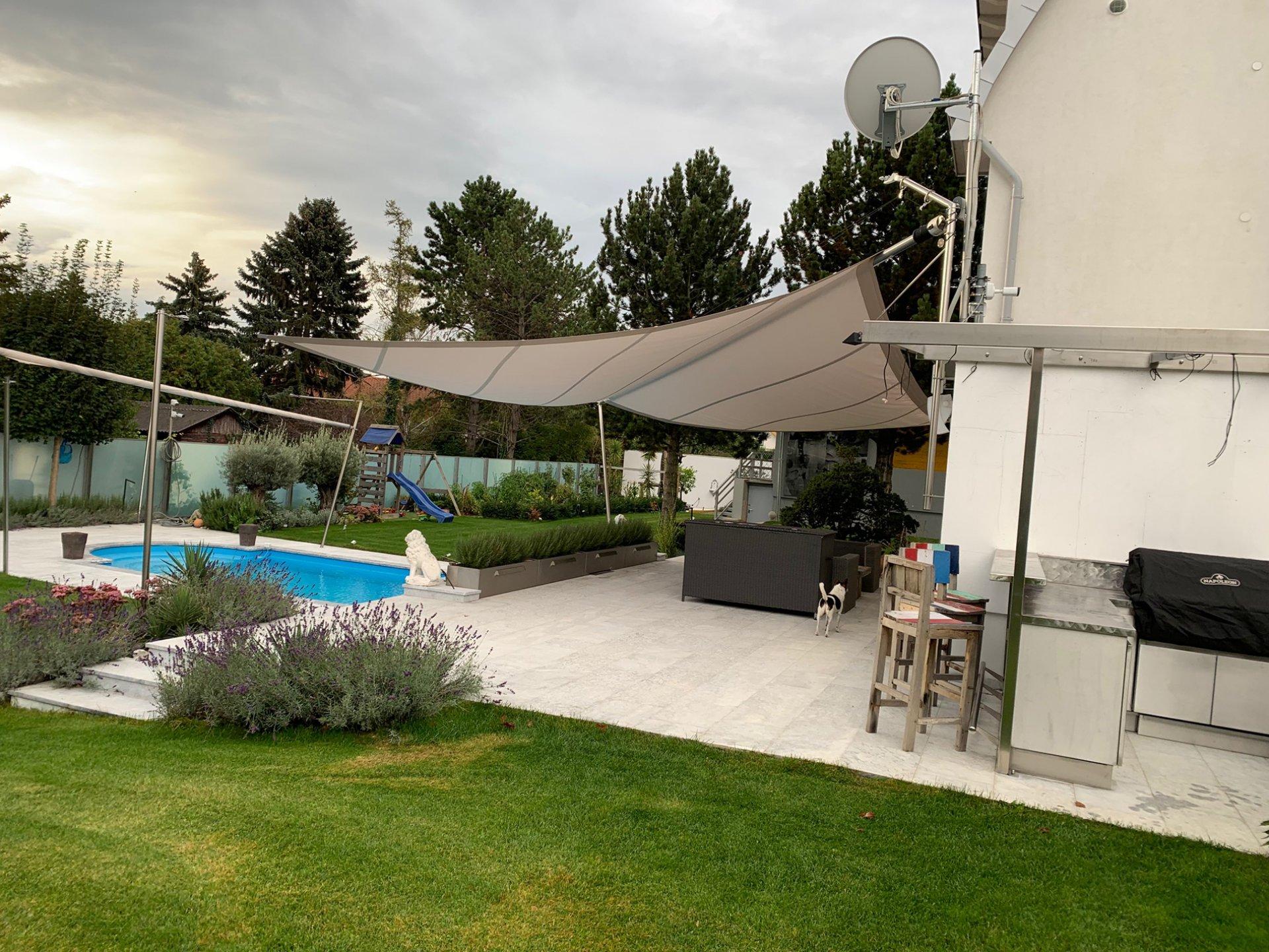 SunSquare Dreiecksegelanlagen: Privat Haus H - Österreich
