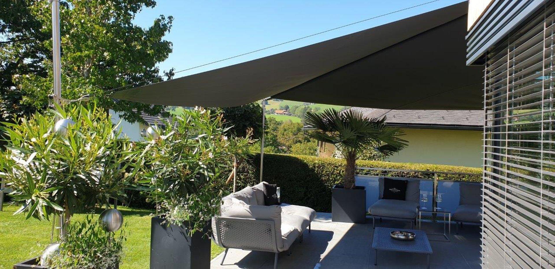 Wand- und Bodenfestigung für SunSquare Dreiecksegel