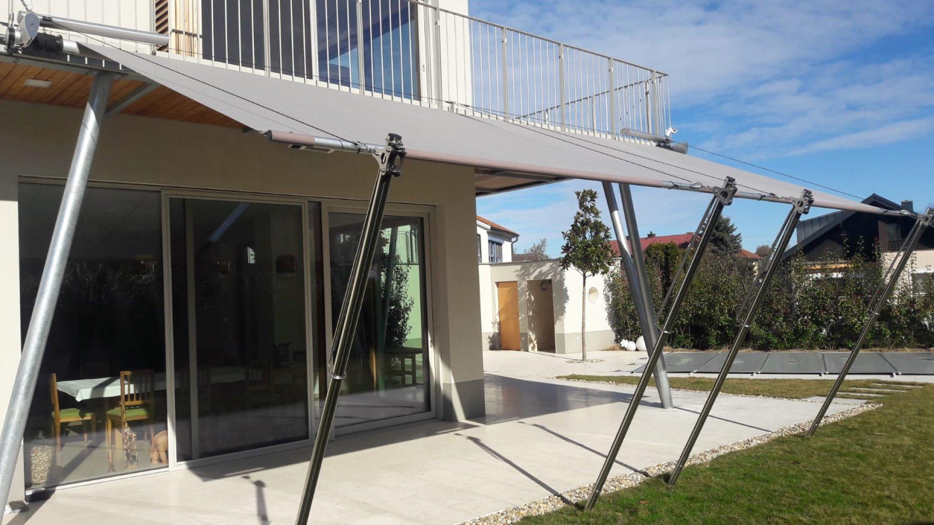 SunSquare einseitiges Rechtecksegel mit Höhenversteller. AX-I