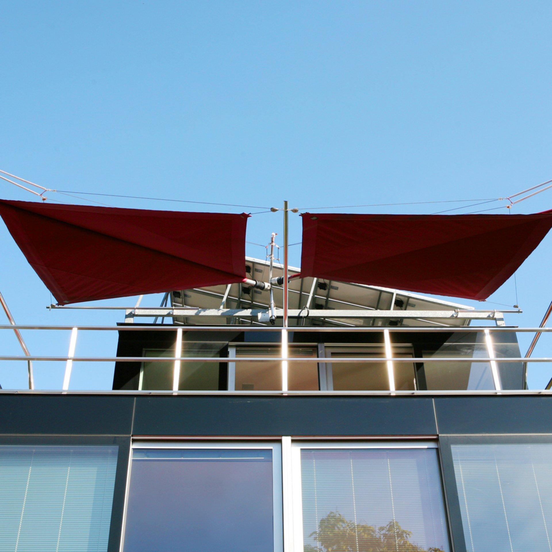 SunSquare - sun sail systems according to individual needs.