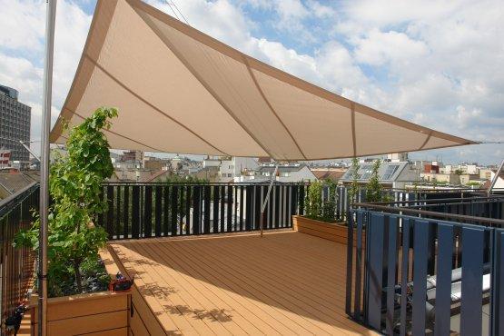 SunSqaure triangular sunsails.